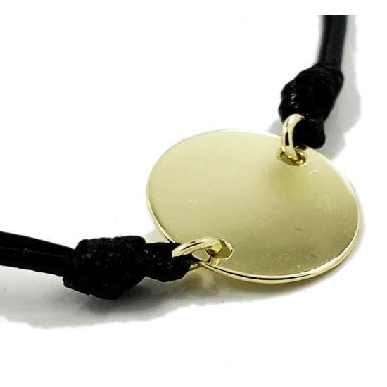 Zlaté srdce na čiernej šnúrke